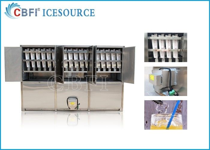 5 tons Commercial Ice Maker Machine / Ice Cube Equipment With 500 Kg Ice Storage Bin Capacity